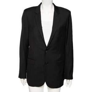 Saint Laurent Black Wool Single Breasted Blazer XXL