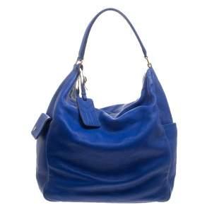 Yves Saint Laurent Blue Leather Multy Hobo