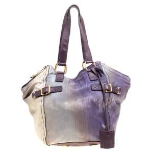 Yves Saint Laurent Multicolor Leather Small Downtown Tote