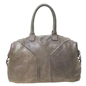 Saint Laurent Grey Stingray Embossed Leather Medium Easy Y Bag