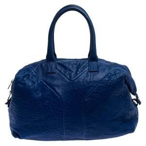 Saint Laurent Blue Leather Medium Easy Y Bag