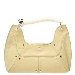 Yves Saint Laurent Light Yellow Leather Mombasa Hobo