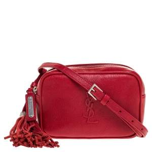 Saint Laurent Paris Red Leather Lou Belt Bag