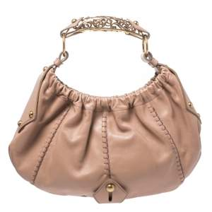 Yves Saint Laurent Nude Beige Leather Vincennes Mombasa Hobo