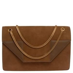 Saint Laurent Tan Suede and Leather Medium Betty Shoulder Bag