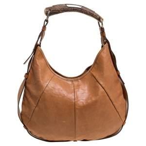 Saint Laurent Tan Leather Mombasa Hobo