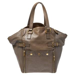 Yves Saint Laurent Beige Leather Large Downtown Tote