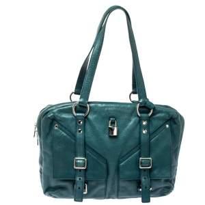 حقيبة سان لوران لوفر جلد خضراء داكنة