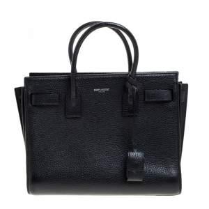 حقيبة يد سان لوران ساك دي جور بيبي كلاسيك جلد  سوداء