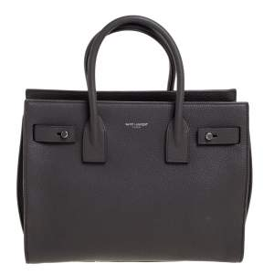 Saint Laurent Grey Leather Baby Classic Sac De Jour Tote
