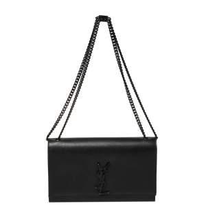 Saint Laurent Black Leather Medium Kate Shoulder Bag