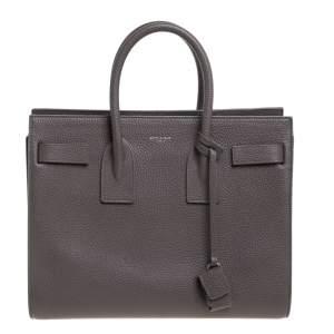 حقيبة يد سان لوران ساك دو جور كلاسيك صغيرة جلد رصاصي صغيرة