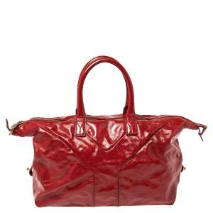Saint Laurent Red Patent Leather Small Easy Y Satchel