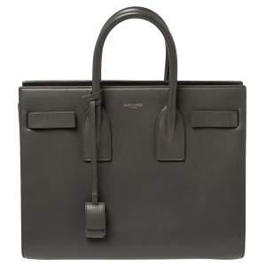 Saint Laurent Grey Leather Small Classic Sac De Jour Tote