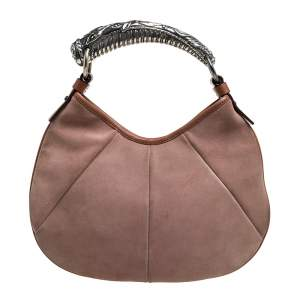 Saint Laurent Paris Blush Pink Suede Mombasa Hobo
