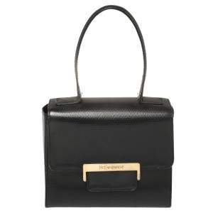 Yves Saint Laurent Black Leather Top Handle Bag