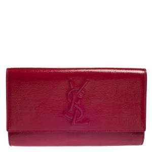 Yves Saint Laurent Fuchsia Patent Leather Belle De Jour Clutch