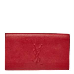 Yves Saint Laurent Red Leather Belle De Jour Clutch