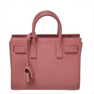 Saint Laurent Pink Leather Nano Classic Sac De Jour Tote