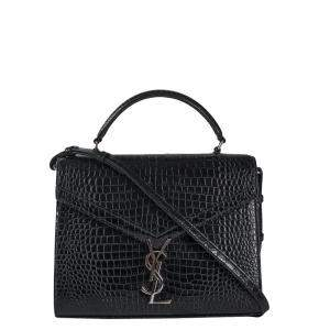 Saint Laurent Paris Black Leather Cassandra Shoulder Bag