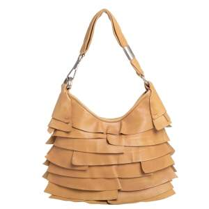 Yves Saint Laurent Beige Leather St. Tropez Hobo