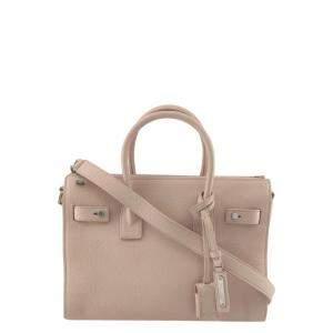 Saint Laurent Beige Leather Sac De Jour Shoulder Bag