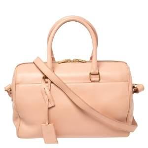 Saint Laurent Salmon Leather Classic Duffle 6 Bag