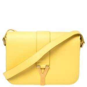 Saint Laurent Yellow Leather Ligne Y Crossbody Bag