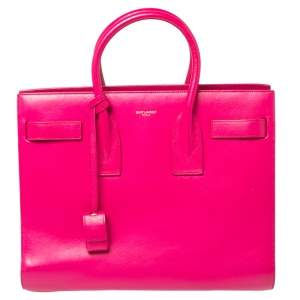 حقيبة يد توتس سان لوران ساك دي جور جلد وردي كلاسيك صغيرة