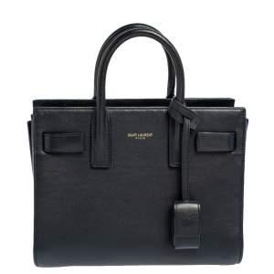 حقيبة يد توتس سان لوران نانو ساك دو جور كلاسيك جلد أزرق كحلي داكن