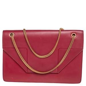 Saint Laurent Red Leather Medium Betty Shoulder Bag
