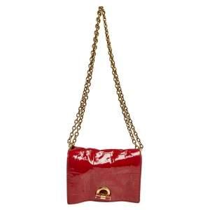 Saint Laurent Red Patent Leather Crossbody Bag