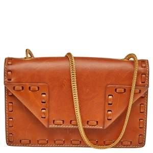 Saint Laurent Tan Leather Betty Shoulder Bag