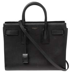 حقيبة يد سان لوران كلاسيك ساك دو جور صغيرة جلد أسود