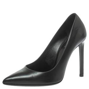Saint Laurent Paris Black Leather Anja Pumps Size 37