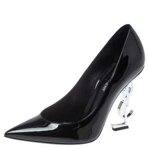 Saint Laurent Paris Black Patent Leather Opyum Pumps Size 38