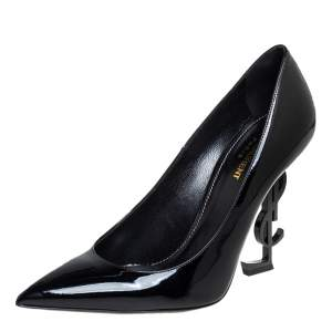 Saint Laurent Black Patent Leather Opyum Pumps Size 40