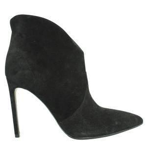 Saint Laurent Paris Black Suede Boots Size EU 38.5