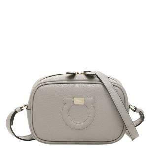 Salvatore Ferragamo Taormina Stone Leather Camera City Mini Bag