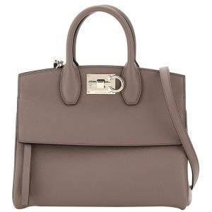 Salvatore Ferragamo Gray Leather Studio Bag
