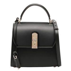Salvatore Ferragamo Black Leather Boxy Small Bag