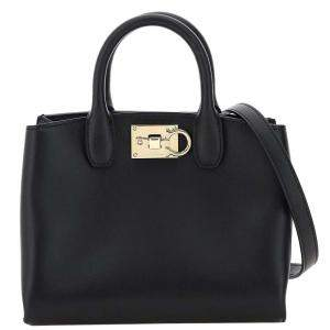 Salvatore Ferragamo Black Leather Studio Mini Bag