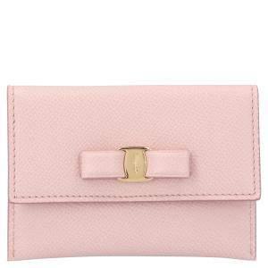 Salvatore Ferragamo Pink Leather Vara Wallet