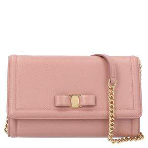 Salvatore Ferragamo Pink Leather Miss Vara Mini Bag