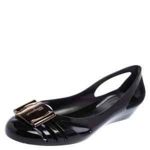 حذاء فلات باليه سالفاتورى بيرمودا جيللى أسود مقاس 40.5