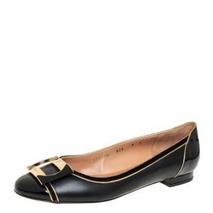 حذاء باليرينا فلات سالفاتوري فيراغامو ميسي جلد و جلد لامع مقاس 39.5