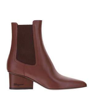 Salvatore Ferragamo Wine Chelsea Boots Size US7.5/EU 38