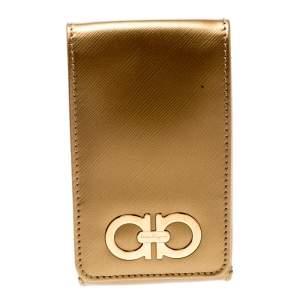 Salvatore Ferragamo Gold Leather iPhone 4 Case