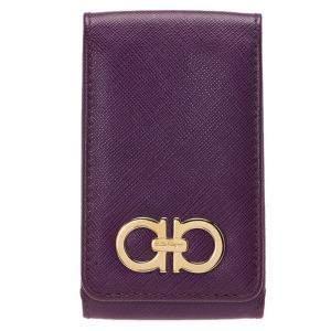 Salvatore Ferragamo Purple Leather iphone 4 Case