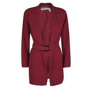 Salvatore Ferragamo Vintage Red Belted Coat M
